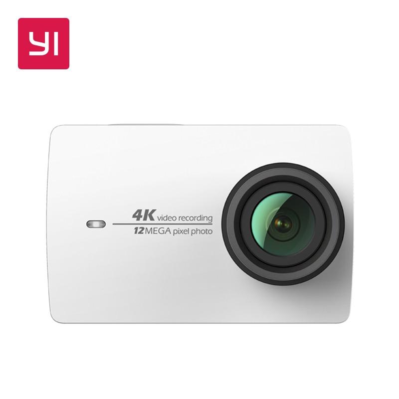 YI 4K Action Camera White Mini Sports Camera 2 19 LCD TouchScreen Ambarella 12MP CMOS EIS