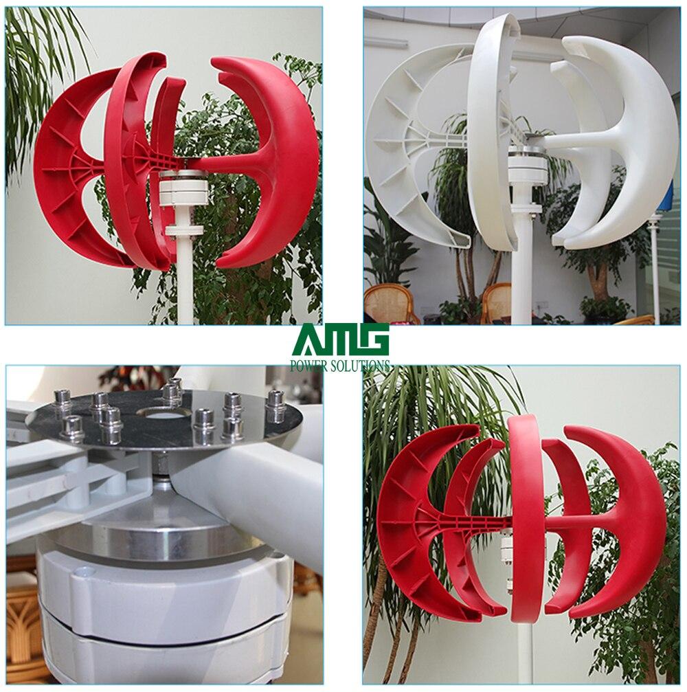 Générateur de Turbine de moulin à vent résidentiel d'axe Vertical de 300 W 12 V/24 V + contrôleur Intelligent imperméable de chargeur de vent - 2