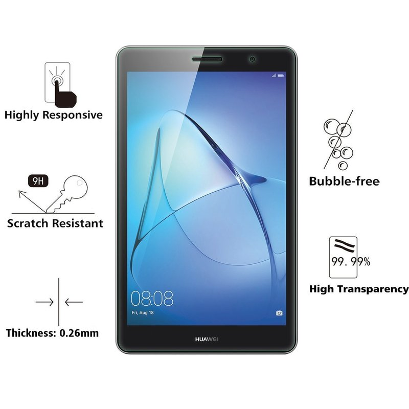9H 7 Tempered Glass Clear Screen Protector Glass for Huawei Models 2