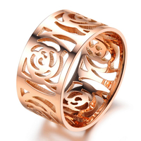 Victoria Wieck Hollow Design 18Kt Rose Gold Filled Engagement Wedding Band Ring For women Sz 5 9