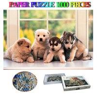 Little Doggies Paper Puzzle Toys Cute Animal 1000 Pieces Jigsaw Puzzle Adults Decompression Puzzle Kids Education Puzzles Toys