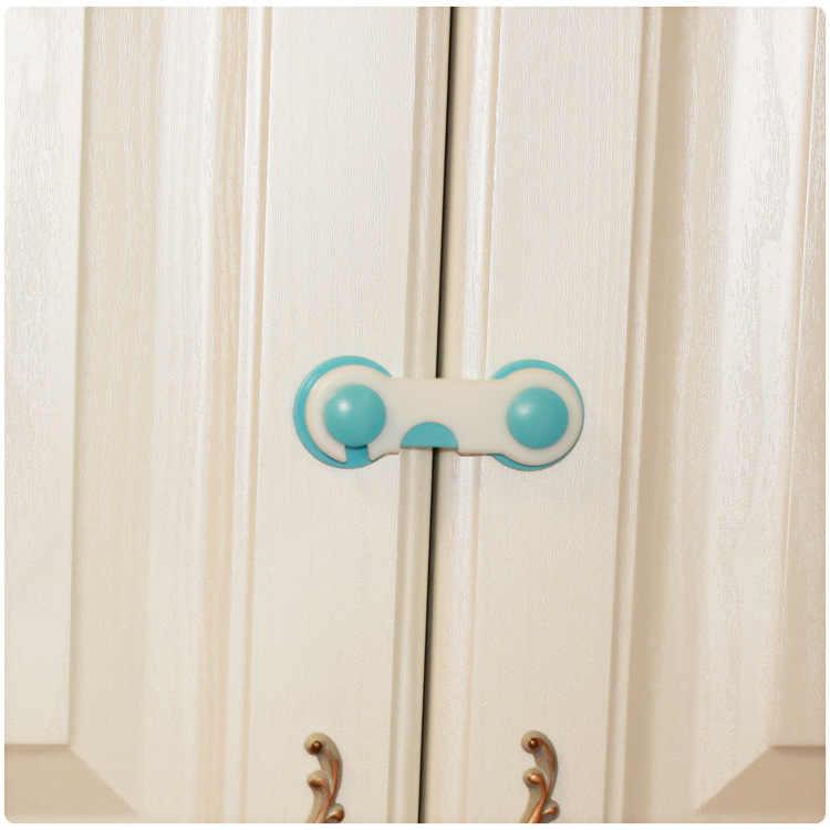 1 шт Пластик Детская безопасность блокировка Дверь Ящики Шкаф Дети Защитная крышка двери шкафа защелка розовый сине-белые крышка