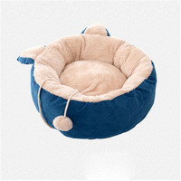 New Deep Sleep Cat Bed Kitten Cushion House Warm Puppy Kennel Detachable & Washable Thick Bichon Teddy Dog Bed For Small Pets