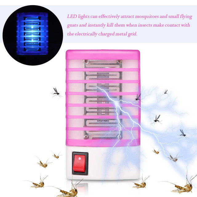 Led Socket Electric Mosquito Killer Lamp Home Lighting No Radiation Night Repellent Fly Trap Insect Killer Mosquito Killer Light