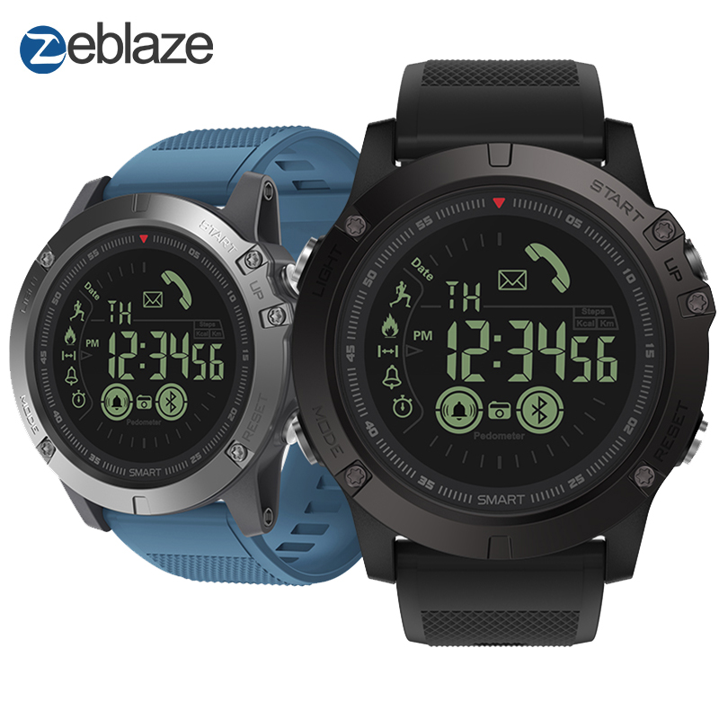 New Zeblaze VIBE 3 Flagship Rugged Smartwatch 33 month Standby Time 24h All Weather Monitoring Smart Watch For IOS And Android