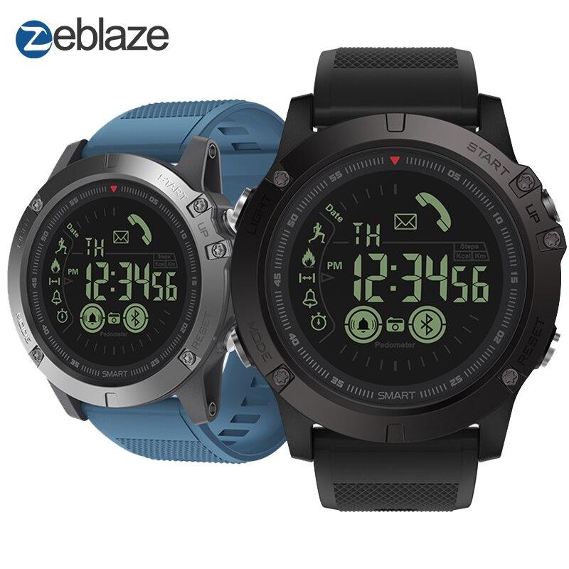 Nueva Zeblaze VIBE 3 Insignia Smartwatch Resistente 33-month Tiempo En Espera 24 h Todo El Tiempo de Vigilancia Inteligente Reloj Para IOS y Android