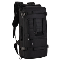Tactical Military MOLLE Assault Backpack Pack 3 Way Modular Attachments 50L Large Waterproof Bag Rucksack Outdoor Camping Gear