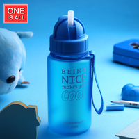 400ML Baby Water Bottle Kid Bottles With Straw Child Drinking Bottle For Water Sport Feeding Plastic