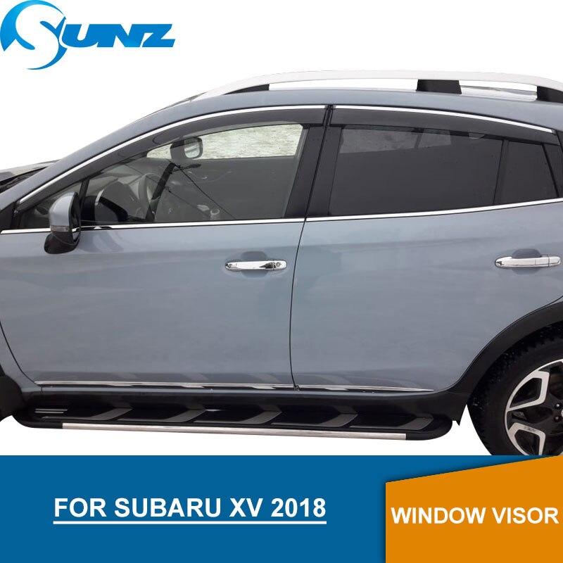 Fenêtre Visière pour Subaru XV 2018 déflecteurs de glaces latérales pluie gardes pour Subaru XV 2018 SUNZ