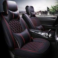 Universal PU Leather car seat covers For KIA K2K3K4K5 Kia Cerato Sportage Optima Maxima carnival auto accessories ca stickers