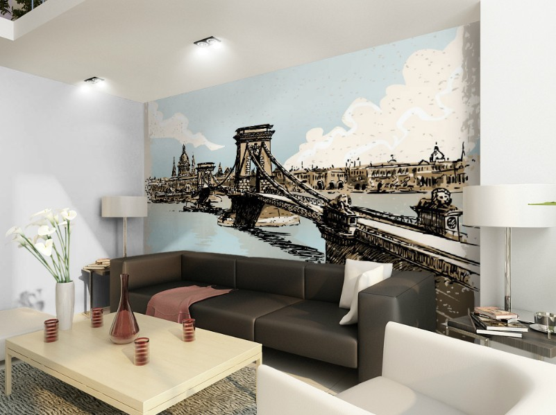 Free Shipping 3D European style architectural living room coffee house bedroom background wall TV studio sofa wallpaper mural  free shipping 3d wall breaking basketball background wall bedroom living room studio mural home decoration wallpaper