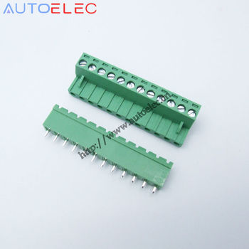 5.08mm Pitch 12P male&female Pins PCB Electrical Screw Terminal Block Connector wire terminals pin header &socket