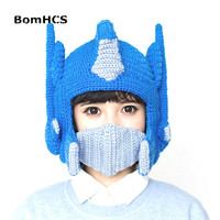 BomHCS Cool Funny Helmet Beanie Winter Warm 100% Handmade Knit Hats Movie Periphery (S for Child, L for Adult