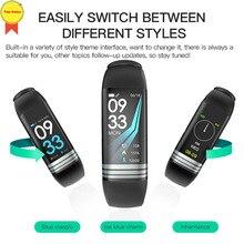 banda inteligente Fitness tracker skype whatsapp pushWaterproof sports reloj Heart rate monitor relogio