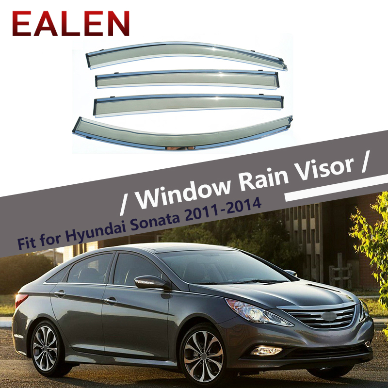 EALEN For Hyundai Sonata 2011 2012 2013 2014 Styling Vent Sun Deflectors Guard Accessories 4Pcs/1Set Smoke Window Rain Visor-in Awnings & Shelters from Automobiles & Motorcycles    1