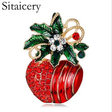 Sitaicery Summer Crystal Grape Brooches For Women Cute Luxury Brooch Pin Fashion Jewelry Elegant Wedding Brooch Bouquet Hot Sale in love and war