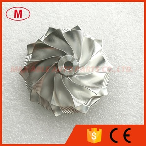 Image 2 - GT15 25 702549 0008HF V1 גבוהה Preformance טורבו אלומיניום 2618/Piont כרסום/בילט מדחס גלגל 50.20/65.00mm 10 + 0 להבים