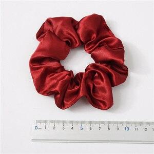 Image 5 - 新しい 35 ピース/セットサテン髪 Scrunchies パック女性弾性ヘアバンド女の子帽子絹のようなポニーテールホルダー固体ヘアアクセサリー