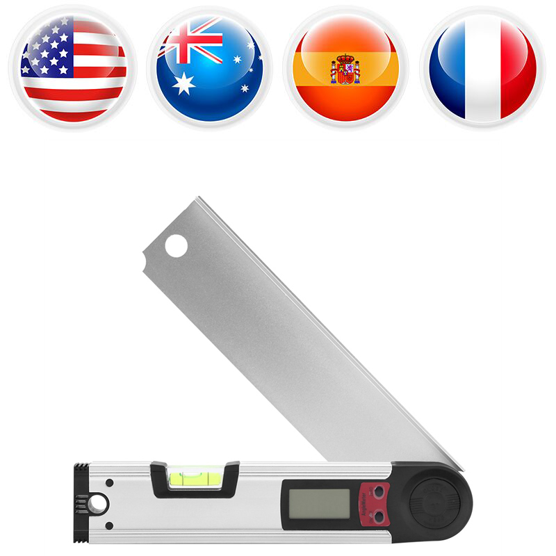 Digital Protractor Level Finder Inclinometer Angle Meter LCD Display Adjustable Angle Ruler Level Measuring Tools hoek meter handy digital angle meter with level 0 185 degrees