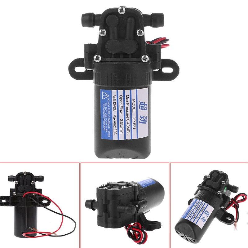 Heimwerker Neue Kommen Dc 12 V 3.5l/min 0.48mpa 70 Psi Membran Hohe Druck Selbstansaugende Wasser Pumpe