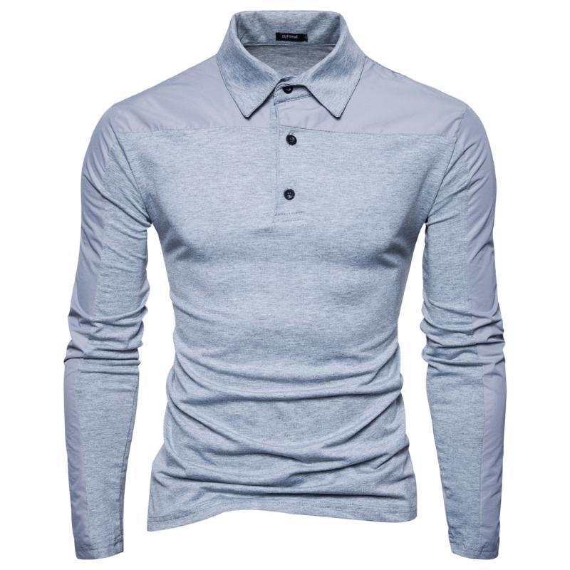 Autumn and Winter Men's Casual Long sleeved men POLO Shirt Fashion Business mens clothing
