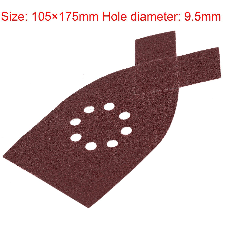 Retail 50pcs 175mm Sander Sanding Sheets Grit Sandpaper Disk For BLACK DECKER KA220G KA230 40,60,80,100,120 Grit Each 10 Pieces