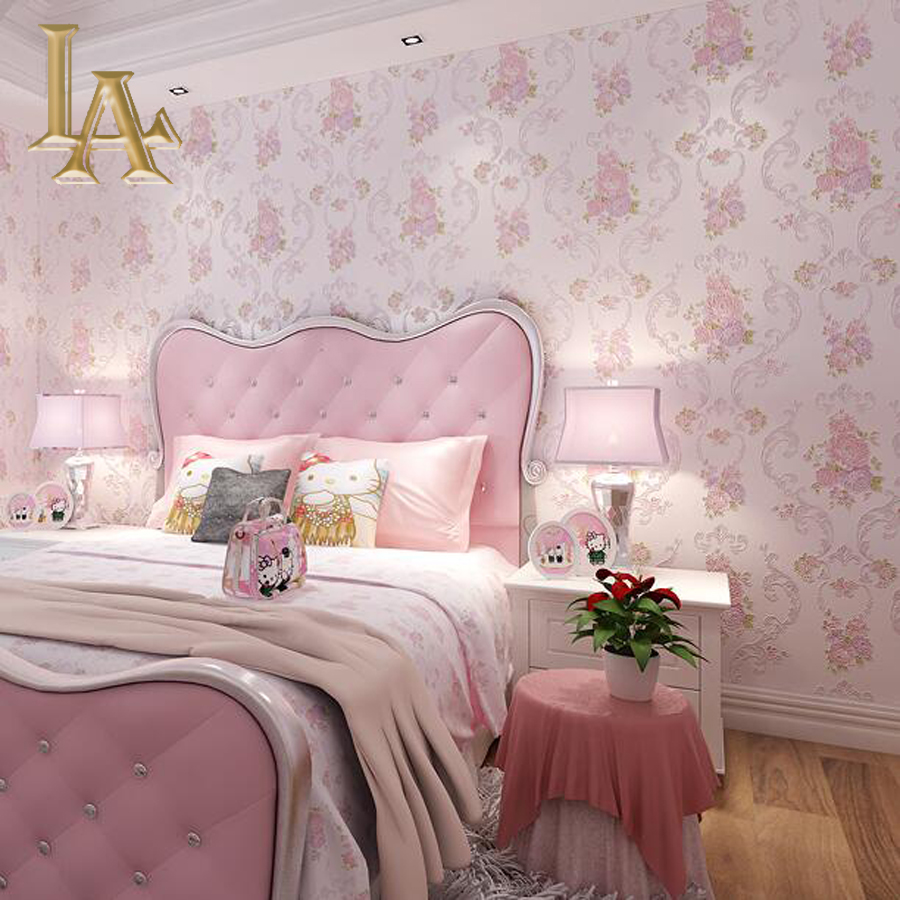 Compare prices on pink glitter wallpaper online shopping for Black and pink wallpaper for bedroom
