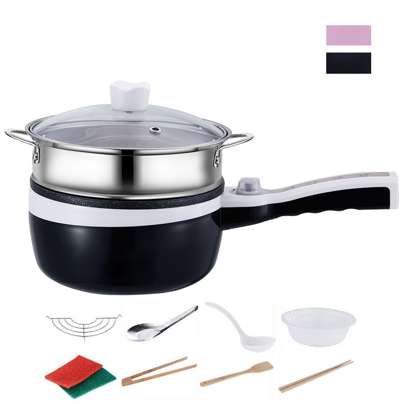 DMWD 2L Multifunctional Mini Non-Stick Electric Cooker For Boiling/Stewing/Frying/Cooking Rice/Hotpot Food Steamer 1-2 People цена и фото