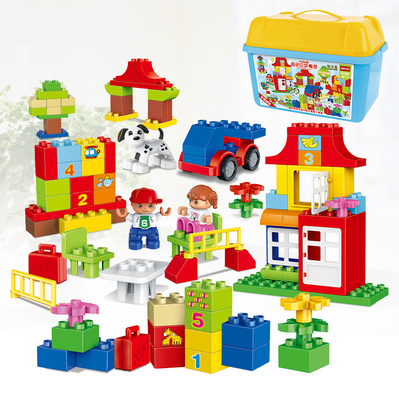 115pcs Quality Big Building Blocks Self locking Bricks Educational Toys Baby Toy kids Child Gift Compatible