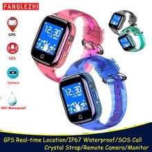 2019 Smart Watch Kids waterproof GPS Smartwatch Clock With SIM Card Location Phone Watches SOS Call Tracker  Students Wristwatch все цены