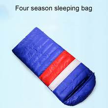 Outdoor Ultra Light Portable Duck Down Sleeping Bag Camping Climbing Splicing Single Sleep Bag Waterproof Warm Down Sleep Bag недорго, оригинальная цена