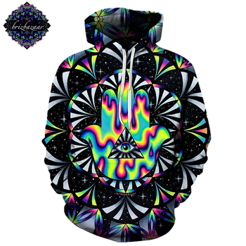 Trippy hamsa By Brizbazaar Art 3D Hoodies Men Hoodie Autumn Sweatshirt Unisex Pullover Novelty Hoodie Male Tracksuit Brand Coat