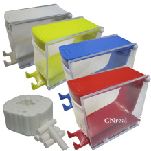 1 pc Dental Cotton Roll Dispenser & 50 pcs Press-type 4 Colors