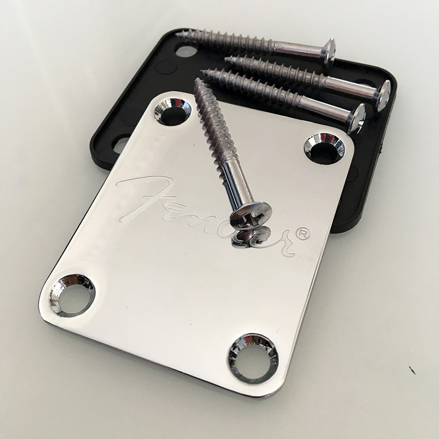 Chrome Electric Guitar Neck Plate For ST TELE  And Bass Enhanced Edition guitar parts