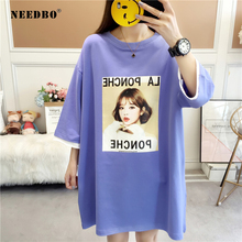 NEEDBO Oversize T Shirt Women Tshirt Cotton Cat High Quality Tee Femme Grande Taille T-shirt Harajuku Casual Tops & Tees