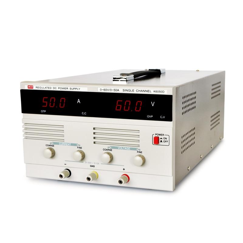 Регулируемый источник питания постоянного тока/регулируемый цифровой дисплей/высокая мощность 30V60V50A испытательный источник питания для э