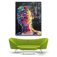 Pop Art Idea Wall Canvas Painting Abstract Living Room Decoration Artwork Prints Oil Painting Lady Portrait
