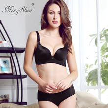 MengShan New style gathered seamless ring bra suit Sexy adjustment type push up set Wire drawing bras for women