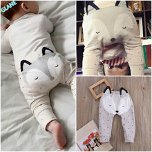 2016 Latest Newborn Infant Baby Boys Girls Fox Bottom Harem Pants PP Leggings Pants Trousers
