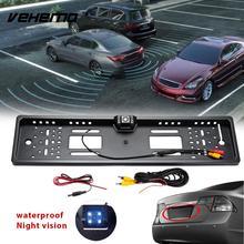 Vehemo EU Car License Plate Frame Parking Camera Video Car Rear View Camera Durable Parking Kit Reverse Backup Cam Recorder