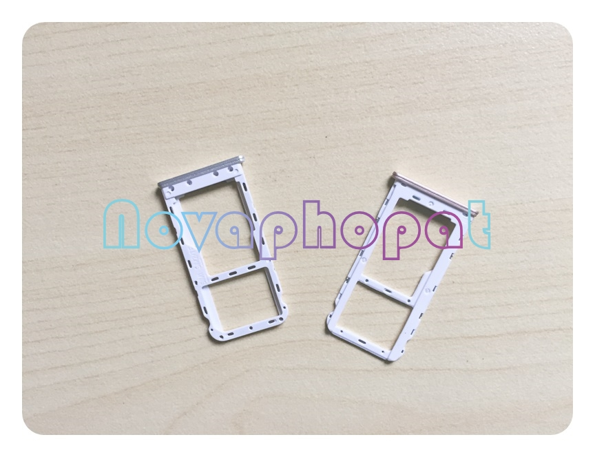 Novaphopat For Meizu M6 SIM Card Tray Holder Micro SD Slot Socket Adapter Replacement + Tracking