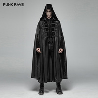 PUNK RAVE Gothic Retro Mysterious Cloak Men's Halloween cosplay club Perform Vampire Cape Men Steampunk Hooded Long Coat