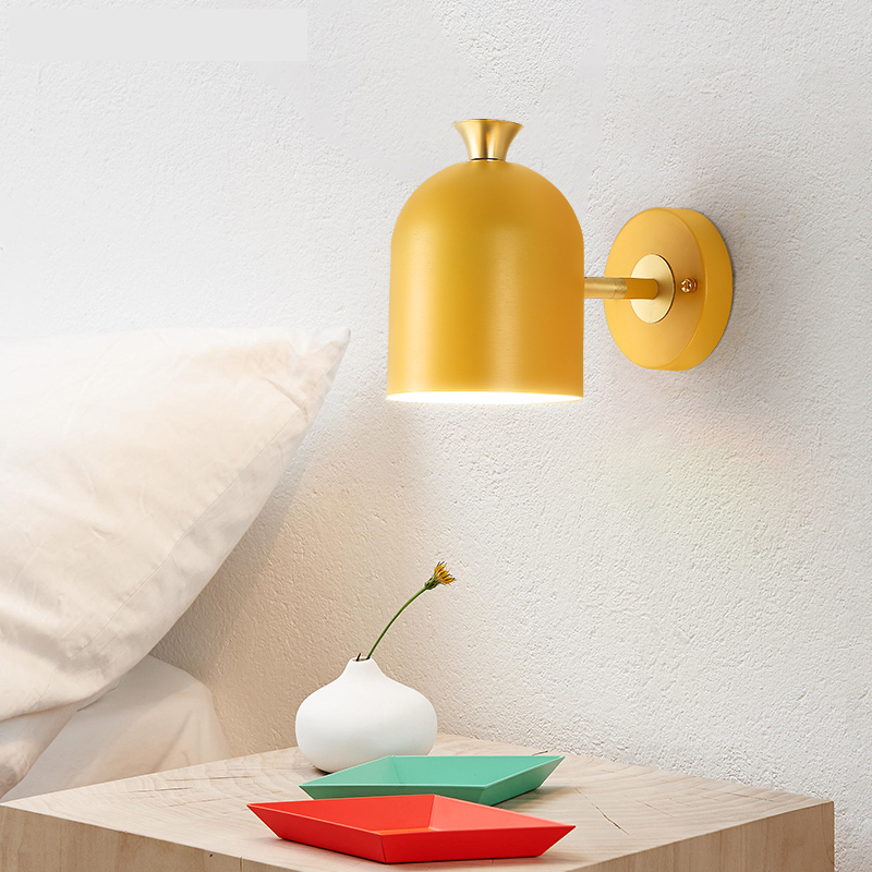 wall lamp Nordic macarons personality living room color aisle creative master bedroom bedside coffee hotel wl3231751 led creative personality art bedroom lamp bedside lamp white light wall lamplighting living room coffee aisle corridor