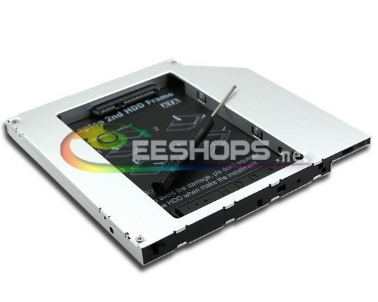 Laptop 2nd HDD SSD Caddy Second Hard font b Disk b font Drive Enclosure DVD Optical