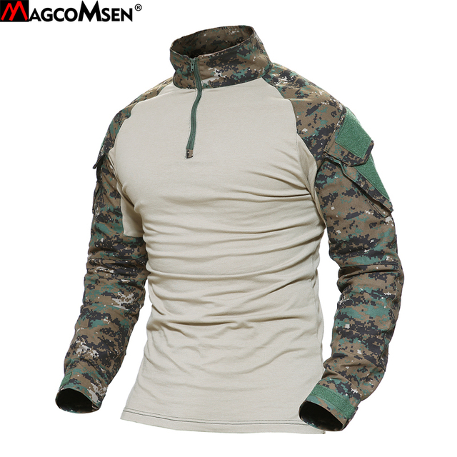 MAGCOMSEN Man Multicam T-shirts Army Camouflage Combat Tactical T Shirt  Military Men Long Sleeve 9e691680713
