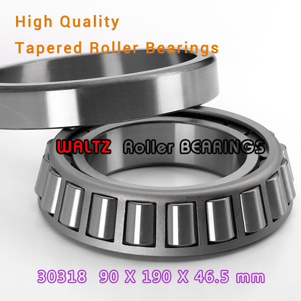 90mm Bearing 30318 7318E 30318A 30318J2 90x190x46.5 High Quality Single-row Tapered Roller Bearing Cone + Cup 1pcs bearing 30318 90x190x46 5 30318 a 30318j2 7318e cone cup mochu high quality single row tapered roller bearings