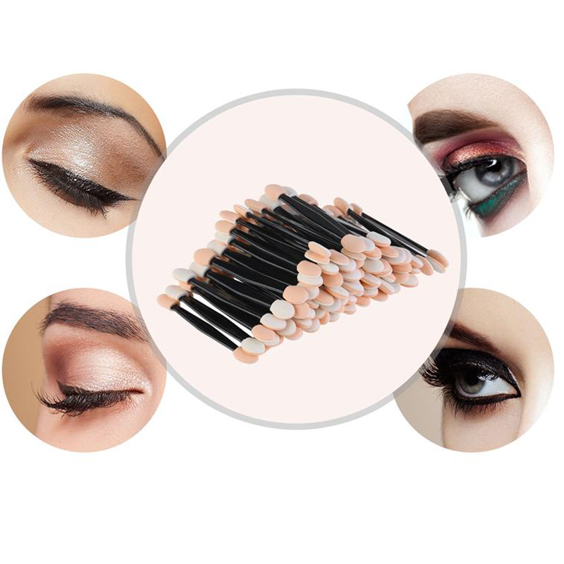 New 30/50PCS Disposable Eyeshadow Brushes Dual Sided Sponge Nylon Sets Eye Shadow Brushes Make Up For Cosmetic Applicator Makeup