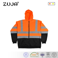High Visibility Men Women Outdoor Multi pockets Tops Workwear Safety Reflective Work Thermal Jacket