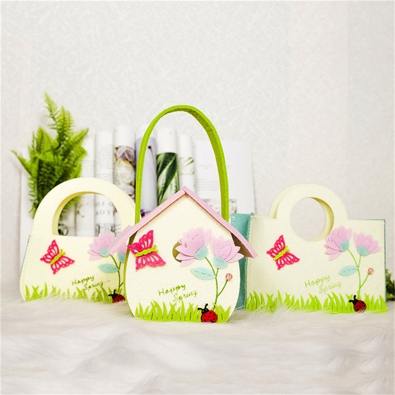 Easter Rabbit Gift Candy Bag Creative Present Home Accessory DIY Craft Wedding Supplies Decor Easter Baskets Gifts Bag Hot R17