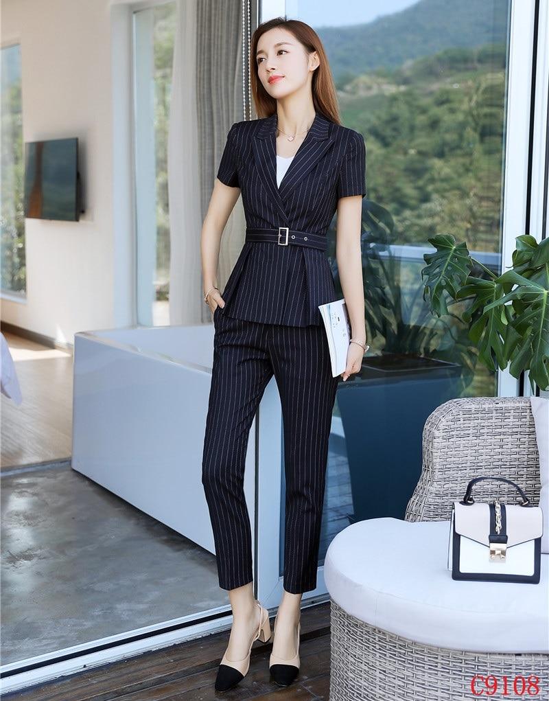 Dames Femmes Pantalons De Haute Et Blazer Fiber Ensemble Ceinture D'affaires Formelles Inclus Qualité Costumes Pour Veste w8EtqYf